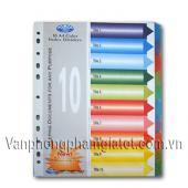 Phân trang nhựa 10 màu